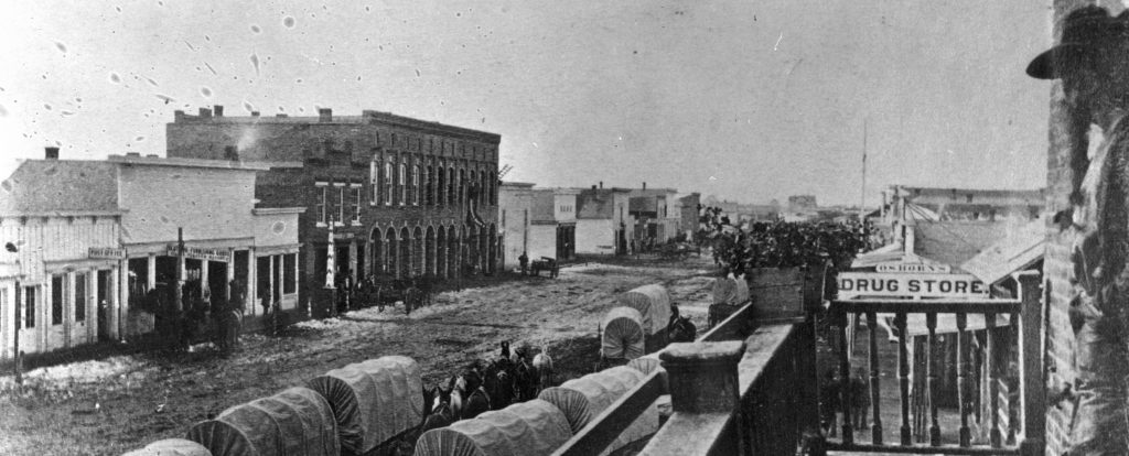 Main Street in Bozeman, 1872
