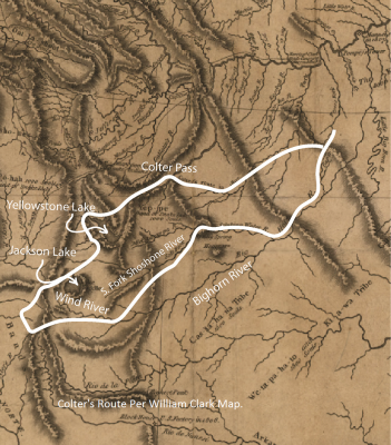 Colter in Yellowstone map