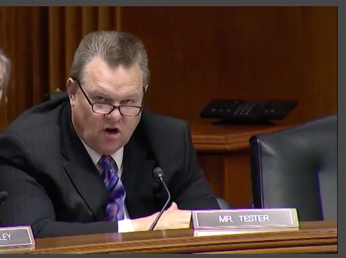 Sen. Tester at Appropriations Hearing